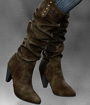 Chic Western Boots 3D Figure Essentials idler168