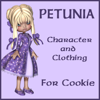 Petunia For Cookie 3D Figure Assets Porthos