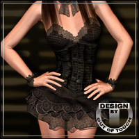 DYNAMITE for V4 Leather Corset 2 3D Figure Essentials outoftouch