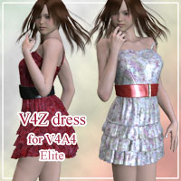 V4Z dress for V4A4 3D Figure Assets kobamax