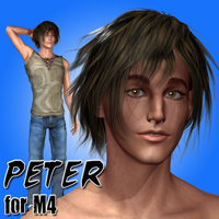Peter for M4 3D Figure Assets henrika_amanda