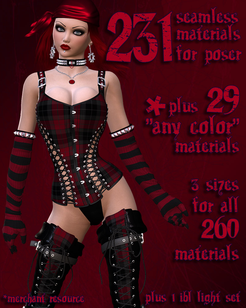 Pd-Gothic Revival Poser Materials