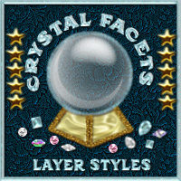 Bling! CRYSTAL FACETS Layer Styles w/Free Gift  2D 3D Models fractalartist01
