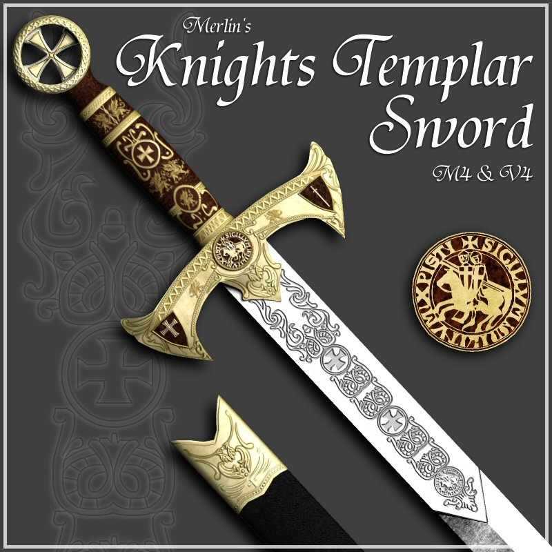 Merlin's Knights Templar Sword