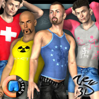 Casuals Pack3 for CLOTHIM Hybrid  zew3d