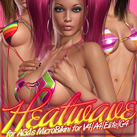 Heatwave for Al3d's MicroBikini V4/A4/Elite/G4 3D Figure Essentials ShanasSoulmate