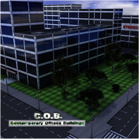 C.O.B. Contemporary Offices Buildings 3D Models whitemagus