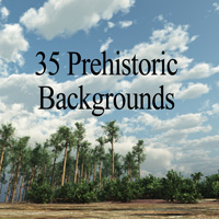35 Prehistoric Backgrounds 2D MNArtist