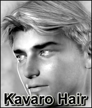 Kavaro Hair (V4, M4, M3, D3, V3, S3, A3, H3 & more) 3D Figure Essentials RPublishing