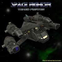 Tengu Space Fighter Themed Props/Scenes/Architecture Transportation Simon-3D