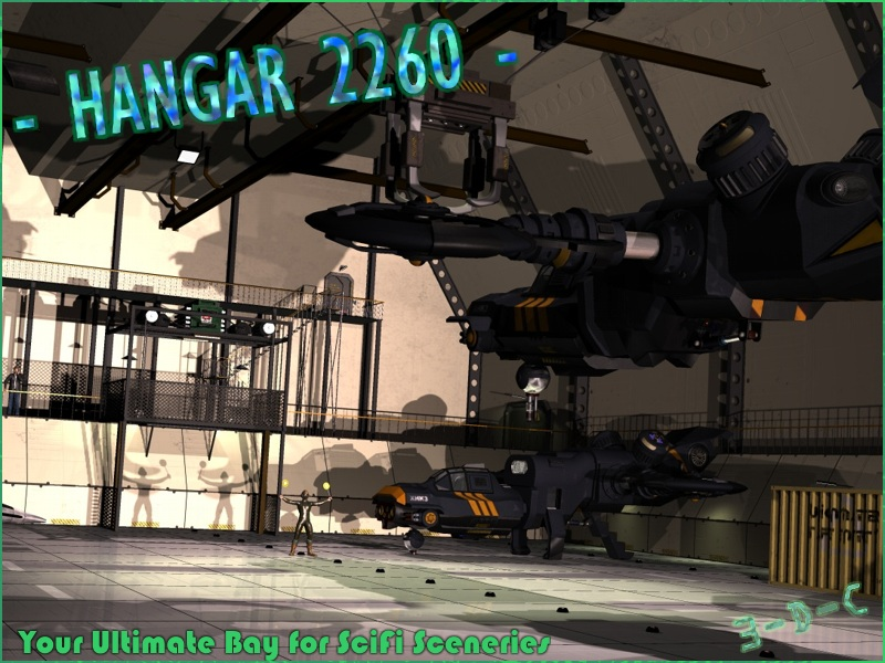 SciFi Hangar 2260 by 3-D-C