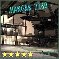 SciFi Hangar 2260 by 3-D-C Props/Scenes/Architecture Themed Transportation 3-d-c
