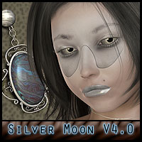 Silver Moon for V4 - jewels included  ForbiddenWhispers
