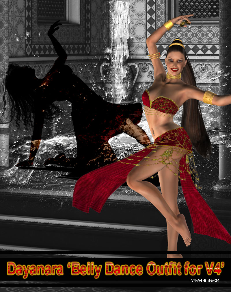 Dayanara 'Belly Dance Outfit for V4'