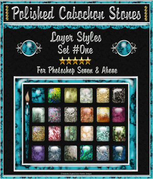 Polished Cabochon Stones {Set #1} 2D Graphics fractalartist01
