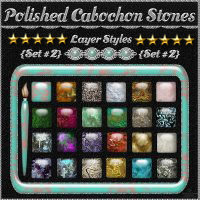 Polished Cabochon Stones {Set #2} Layer Styles 2D Graphics fractalartist01
