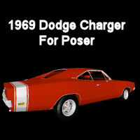 1969 Dodge Charger-Poser 3D Models BrokenWings