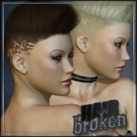 Broken Hair 3D Figure Assets outoftouch