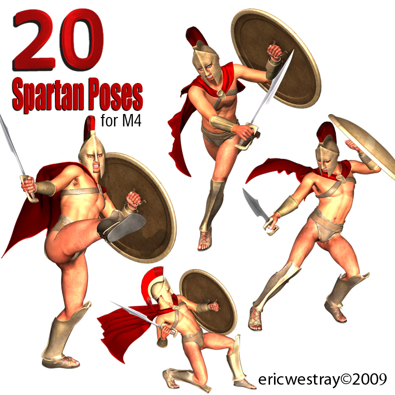 20 Spartan Poses for M4