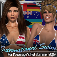 International Swim for Hot Summer 2009 3D Figure Assets fratast