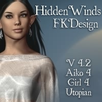 HiddenWinds for V4.2 3D Figure Assets fabiana