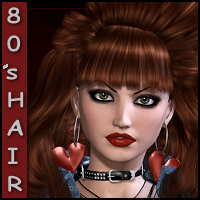 80's Hair for V4,A4,G4 3D Figure Assets Propschick