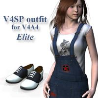 V4SP outfit for V4A4 3D Figure Assets kobamax