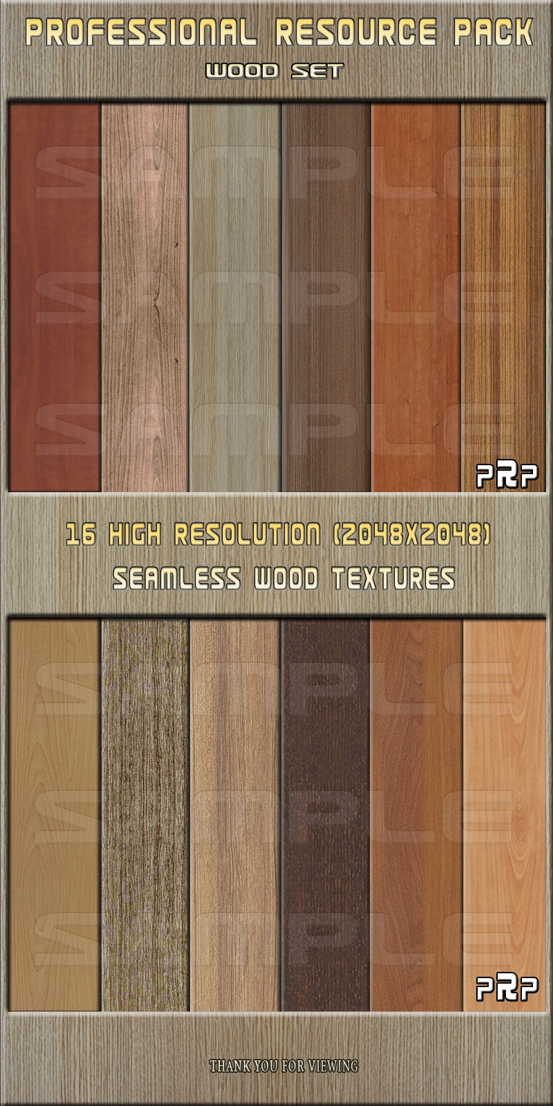 Professional Resource Pack-Wood Set