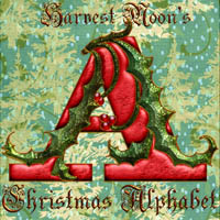 Harvest Moon's  Christmas Alphabet  2D Graphics Merchant Resources Harvest_Moon_Designs