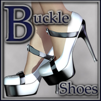 Buckle Shoes for V4 3D Figure Essentials nikisatez
