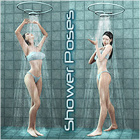 DA - Shower Poses 3D Figure Assets 3D Models DreamWarrior