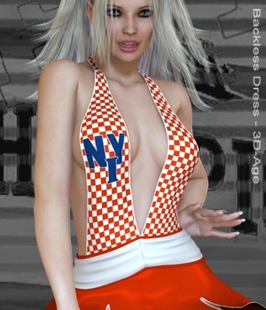 Cheerleaders' - Backless Dress 3D Figure Assets nirvy