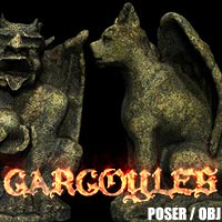 Gargoyles - Cat and Trickster  designfera