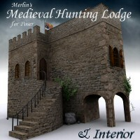 Merlin's Medieval Hunting Lodge 3D Models 3D Figure Essentials Merlin_Studios