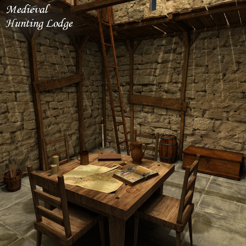 Merlin S Medieval Hunting Lodge 3d Models 3d Figure Assets