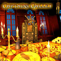 Pirate Captains Galley and Treasure 3D Models 3D Figure Assets LukeA