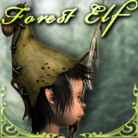 Forest Elf 3D Figure Assets smay