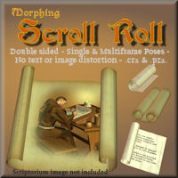 Morphing Scroll Roll 3D Models 3D Figure Essentials pappy411