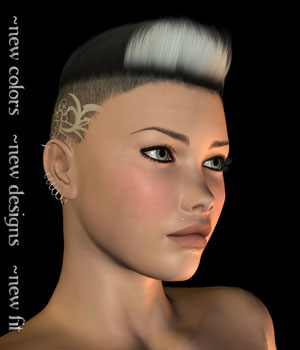 Pure Shades Broken Hair 3D Figure Assets OKCRandy
