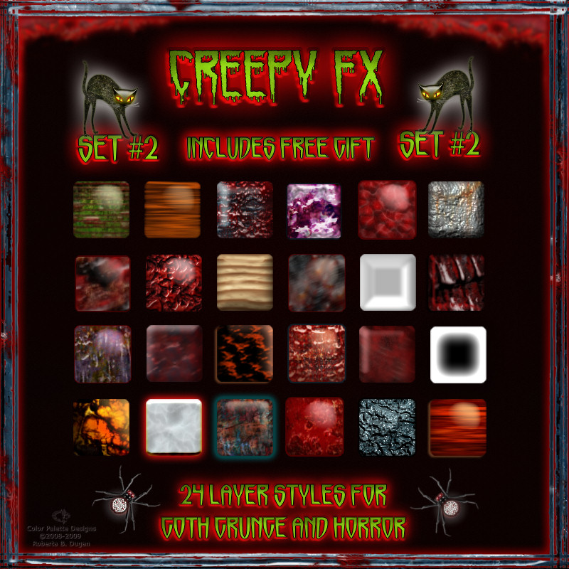 Creepy FX Styles for Goth Grunge & Horror w/Free Gift {Set #2}