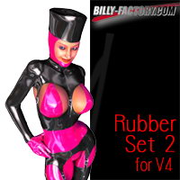 V4 Rubber Set 2 3D Figure Assets billy-t