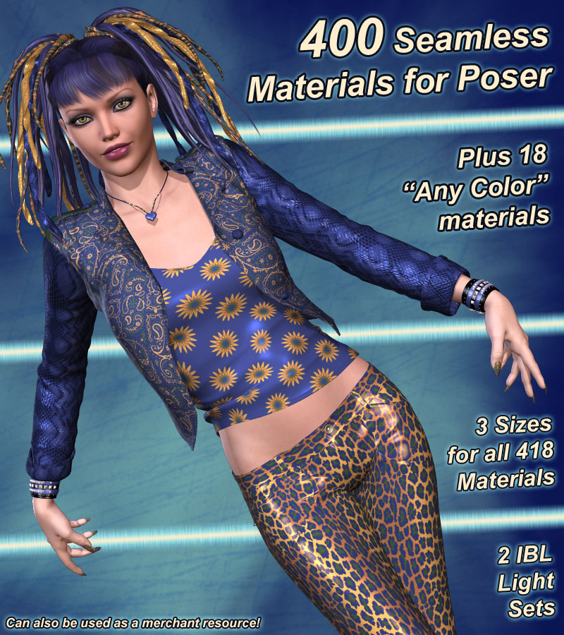 Pd-Color Riot Poser Materials