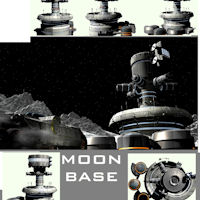 MOON CITY 3D Models rj001