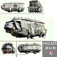 MOON BUS Transportation Themed rj001