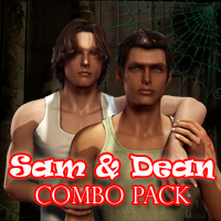 Sam & Dean Combo Pack 3D Figure Essentials henrika_amanda