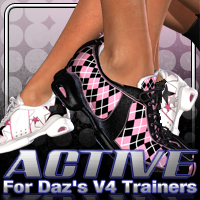 Active for Daz's V4 Trainers 3D Figure Assets fratast