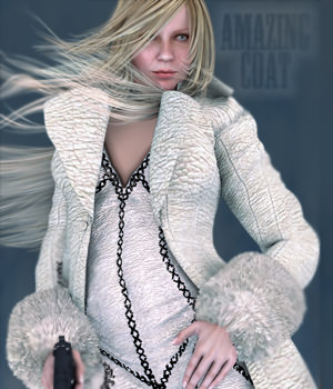 Amazing Coat for V4 3D Figure Essentials StudioArtVartanian