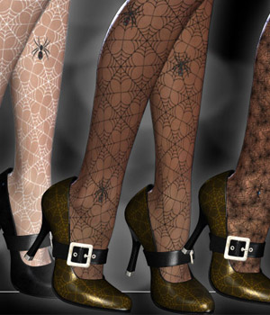 Bewitching Pumps and Stockings 3D Figure Assets kaleya