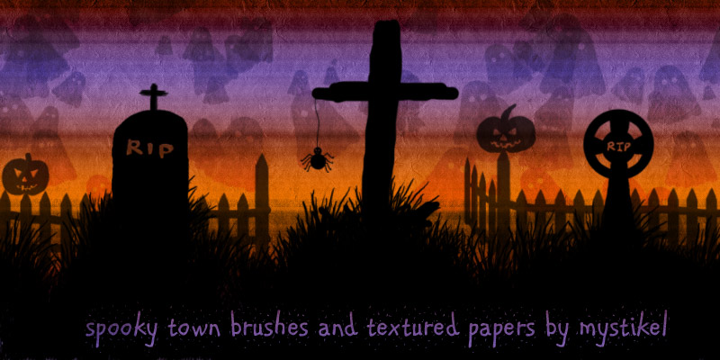 Spooky Town Brushes and Textures