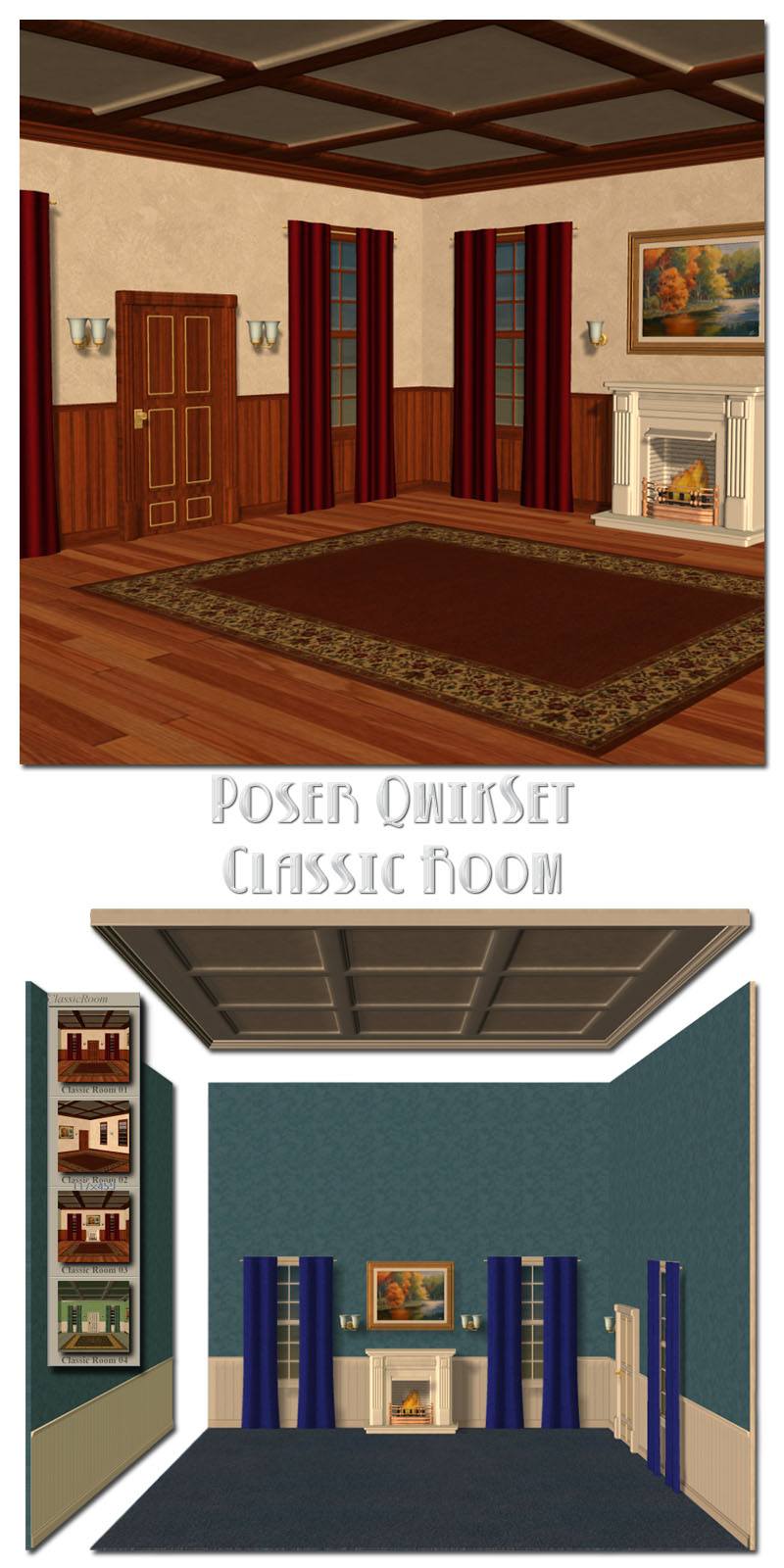 Poser QwikSet - Classic Room